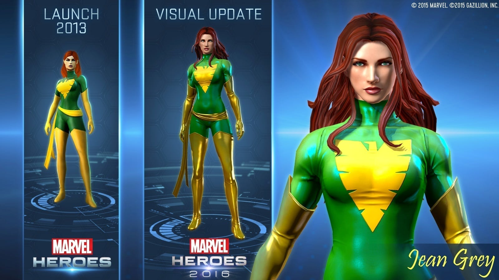 Marvel Heroes 2016 - Jean Grey visual update