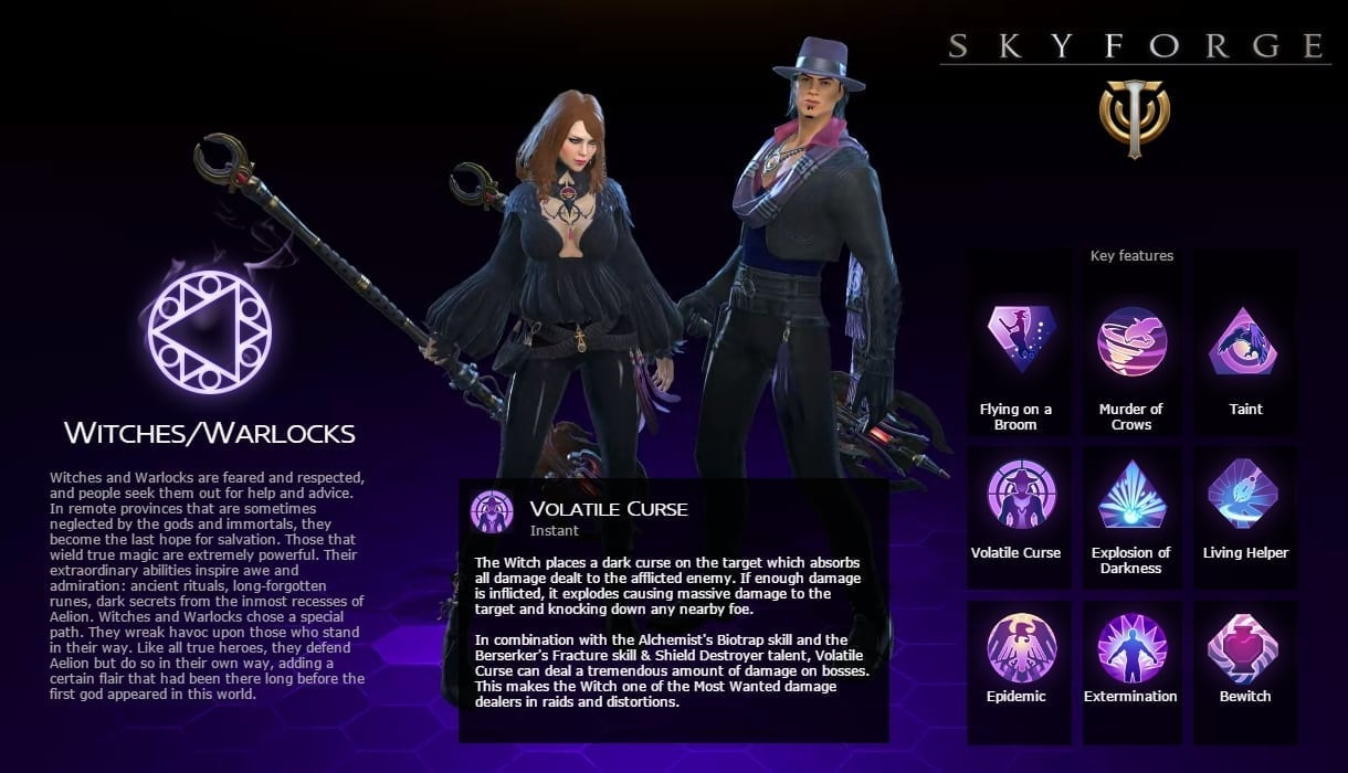 Skyforge - Witch class
