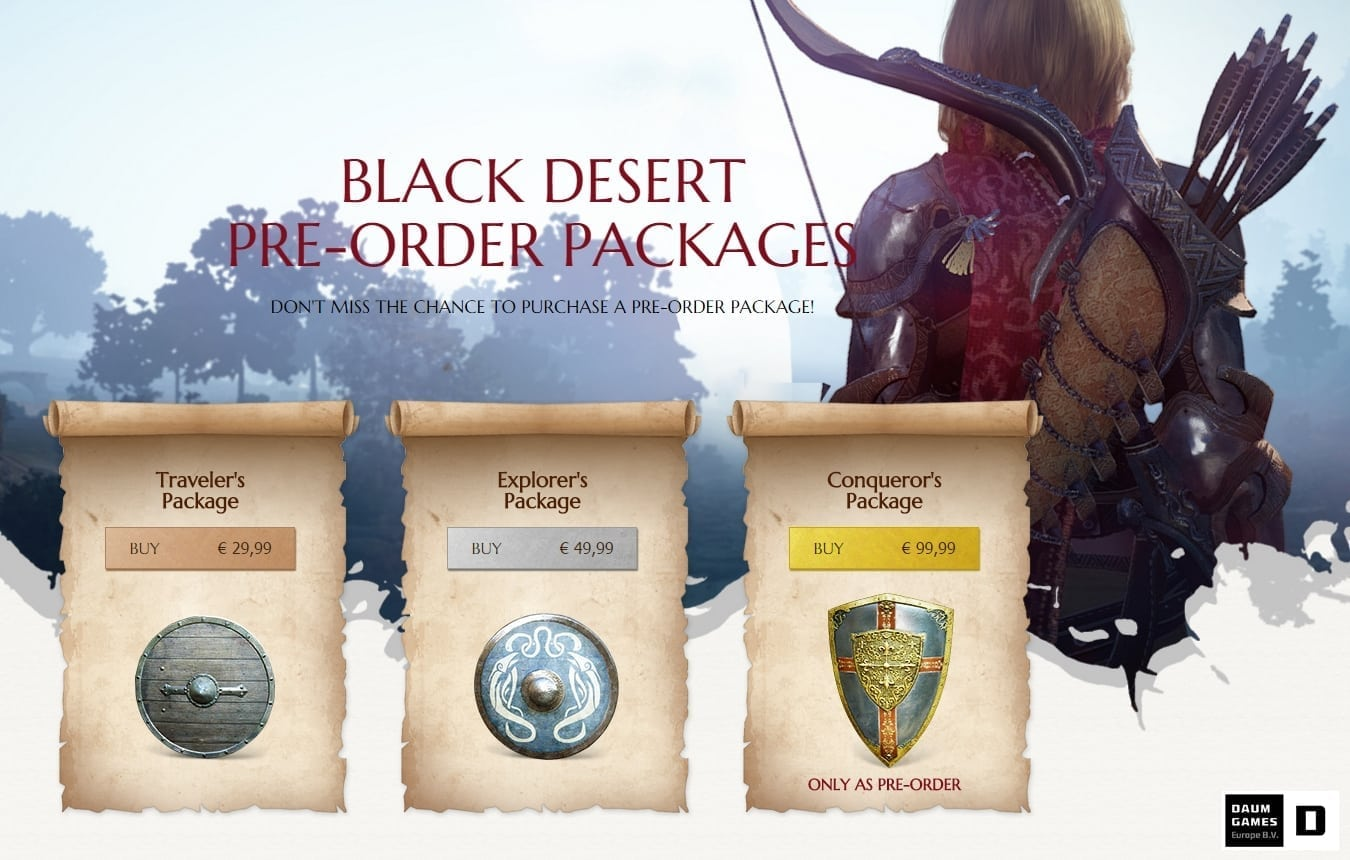 Black Desert Online pre-order