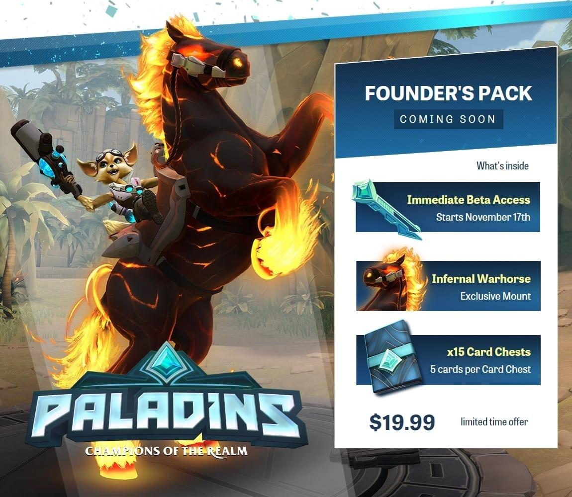 Paladins Founder's Pack teaser