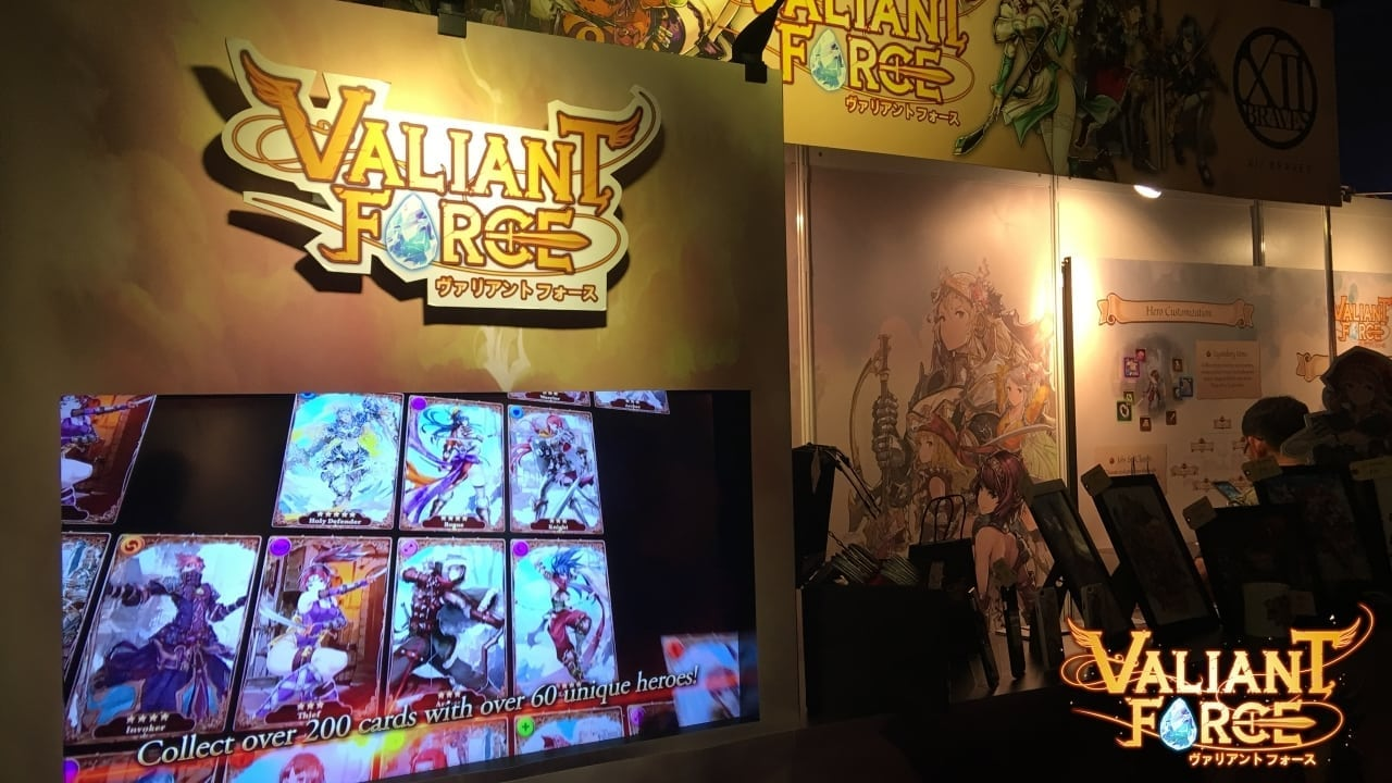 Valiant Force - GameStart 2015 booth photo