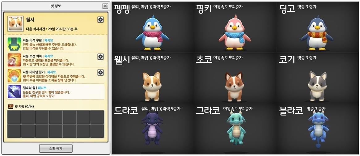 MapleStory 2 debut pets