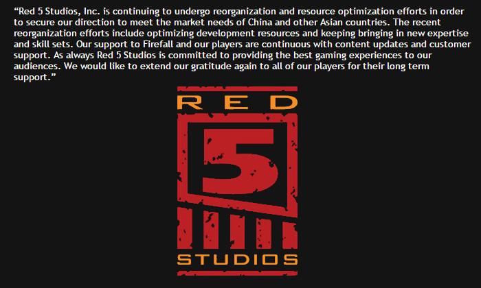 Red 5 Studios reorganization 2016