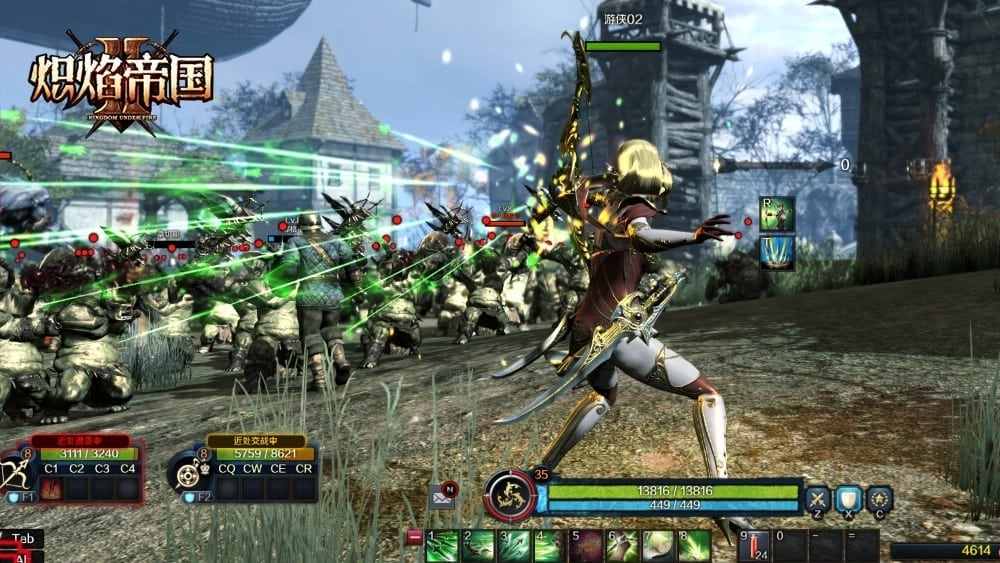 Kingdom Under Fire II - Ranger combat screenshot 1