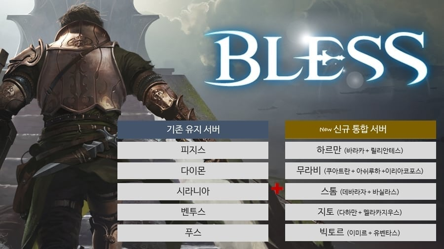 Bless - March 2016 server merge