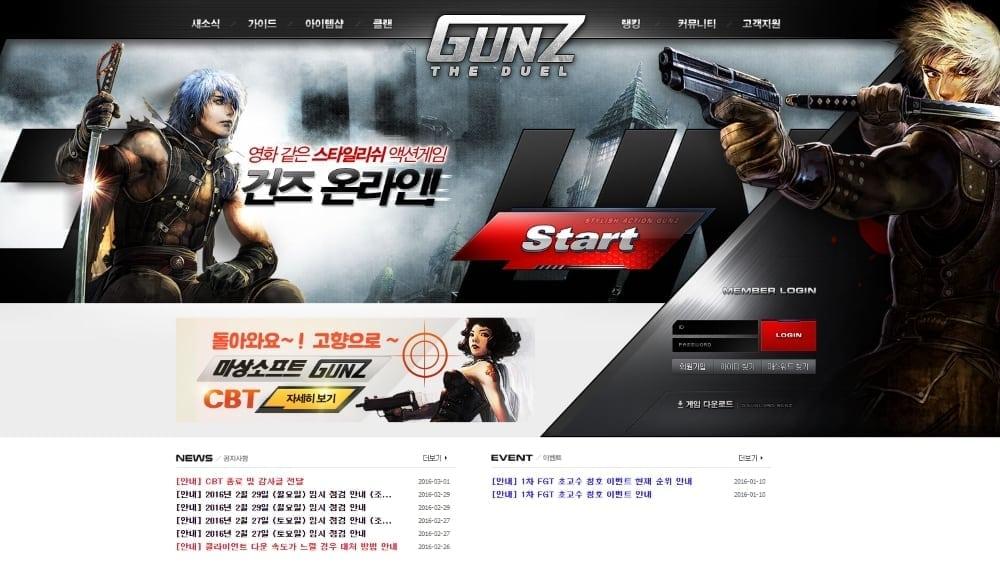 GunZ The Duel - Masangsoft website