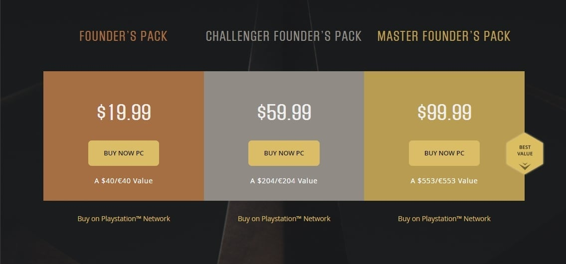 Paragon - Founder's Packs
