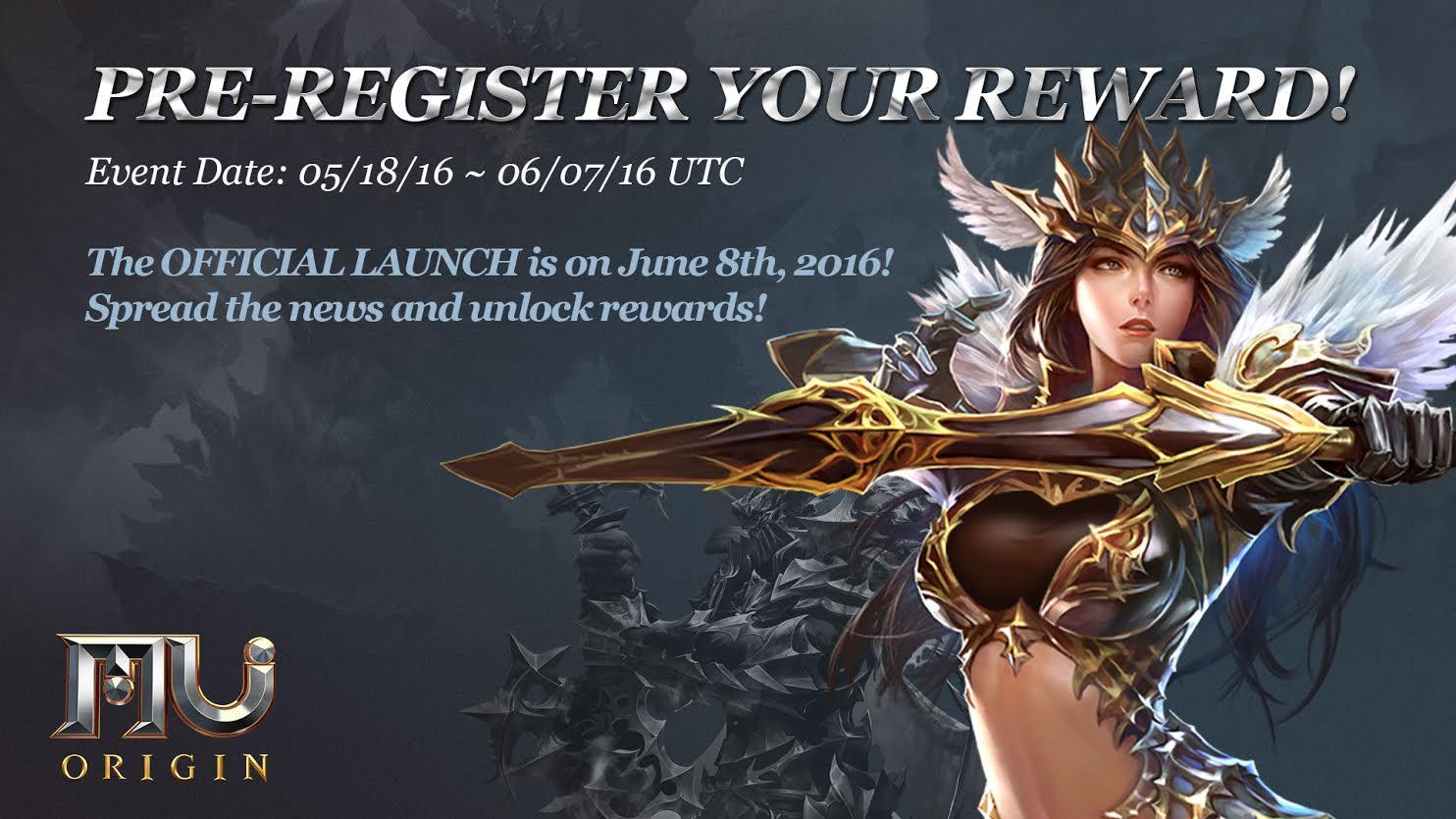 MU Origin pre-register image