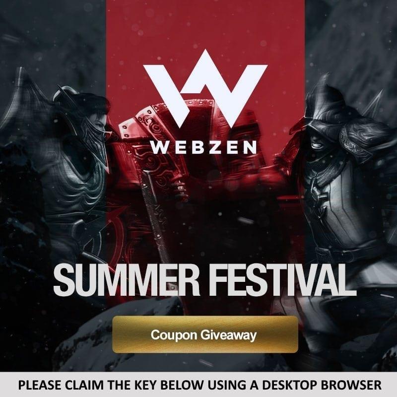 Webzen Summer 2016 key giveaway