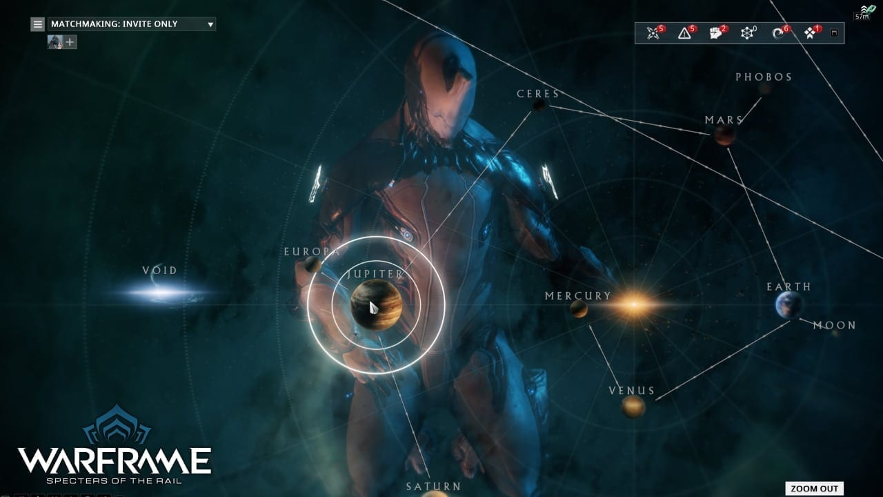 Warframe Specters of the Rail - Star Chart rework 1