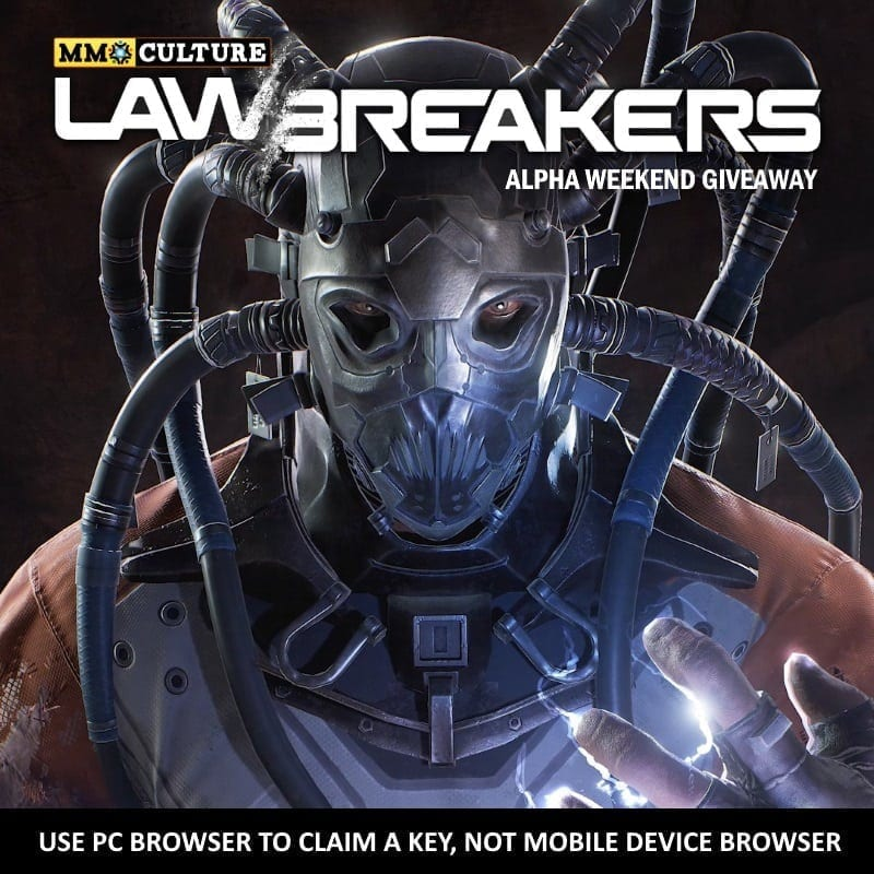 LawBreakers Alpha key promo image