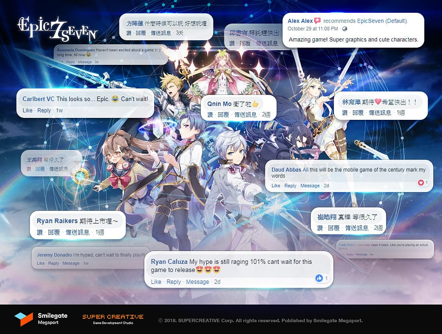 Epic Seven – Global launch begins this week as pre-registration hits