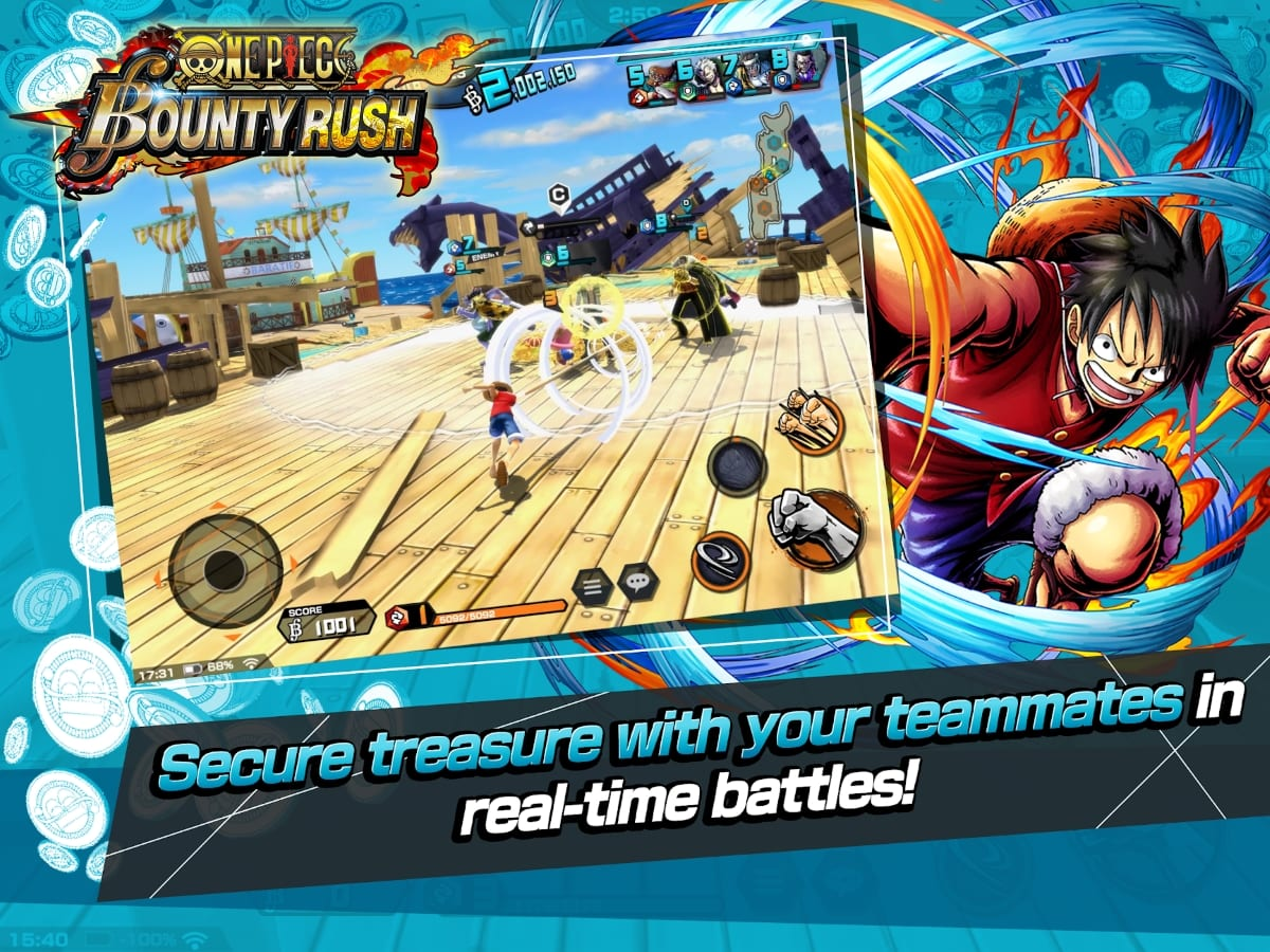 One Piece Bounty Rush - New mobile RPG based on beloved manga series officially launches - MMO ...