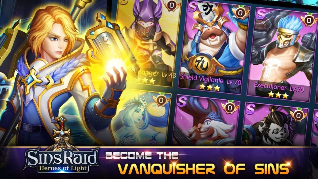 Sins Raid: Heroes of Light – New mobile RPG enters Closed