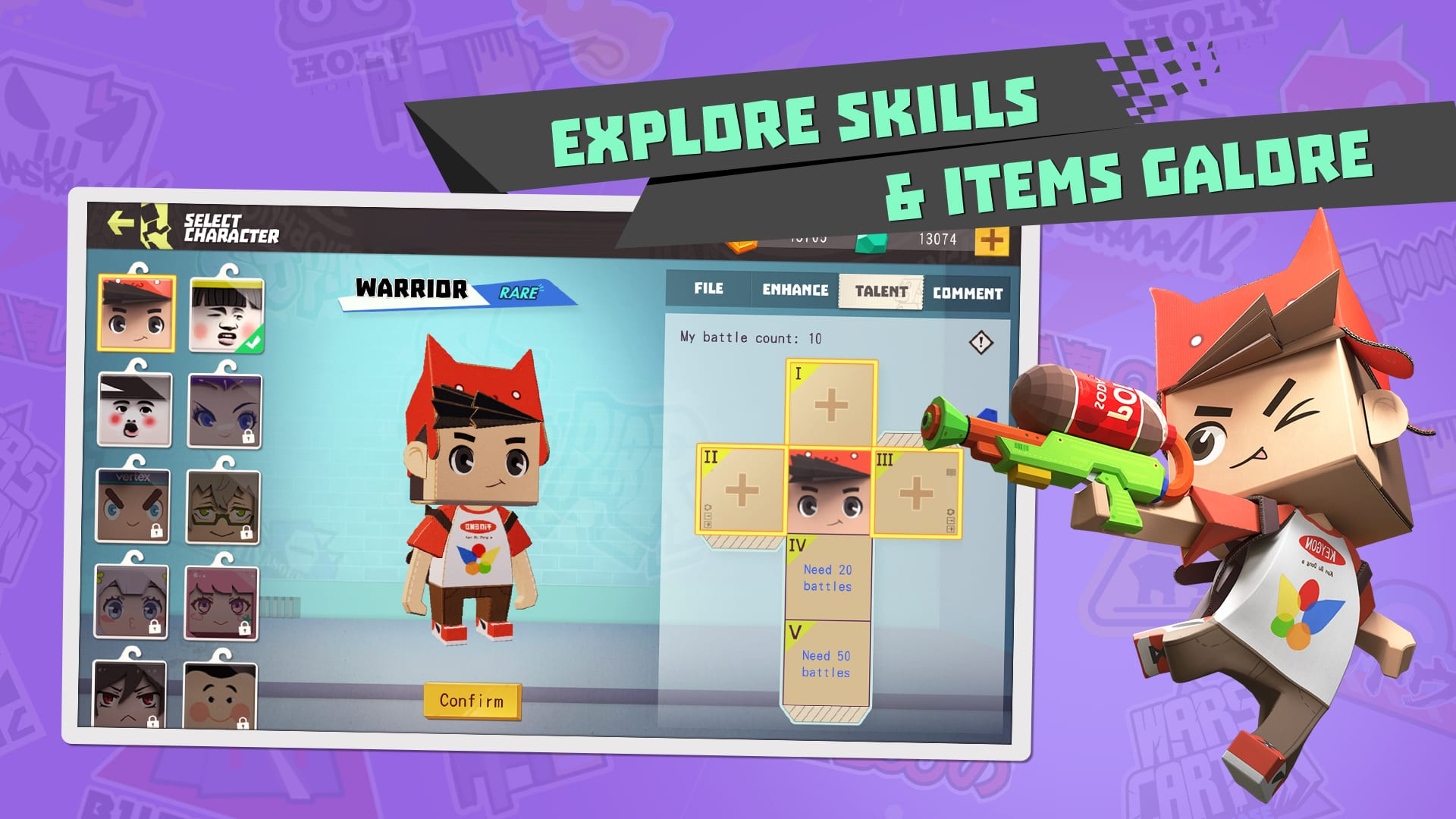 Cardboard Clash – Cartoony battle royale launches for iOS devices