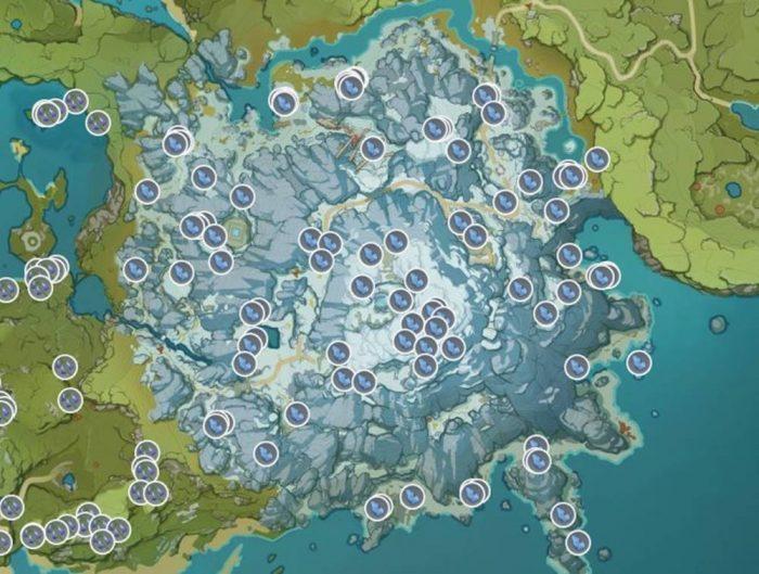 map Genshin Impact Dragonspine Spear