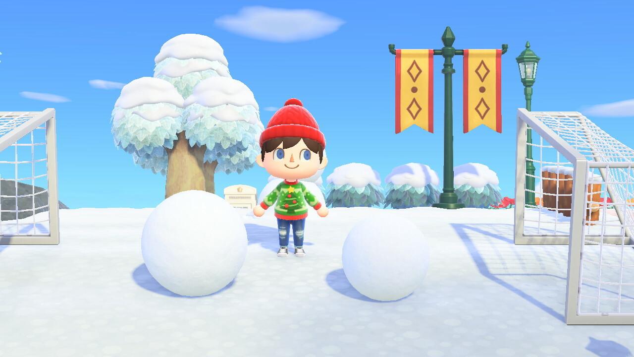 Manusia Salju Animal Crossing