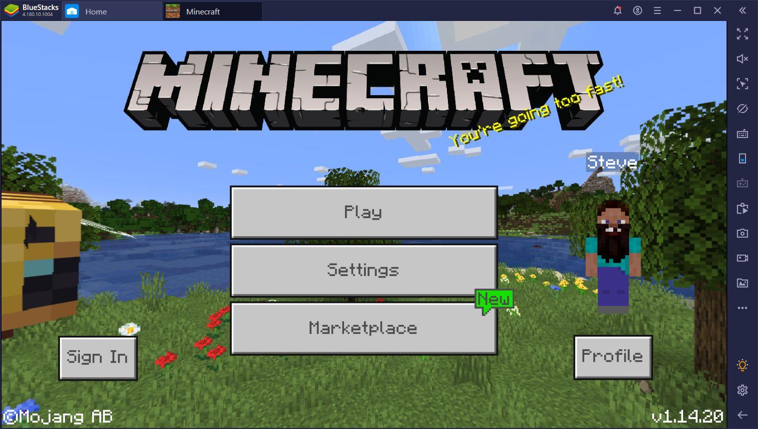 Minecraft Bluestacks