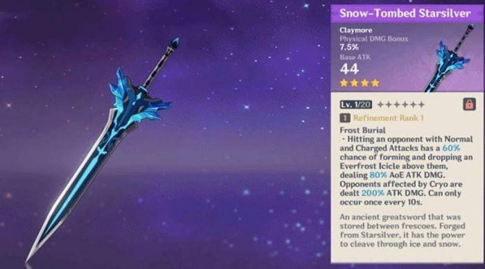 Snow Tombed Starsilver Genshin Impact