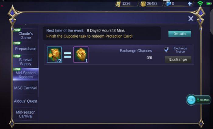 Star Protection Event Mobile Legend 2020 Desember