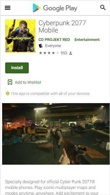 cyberpunk 2077 mobile 1