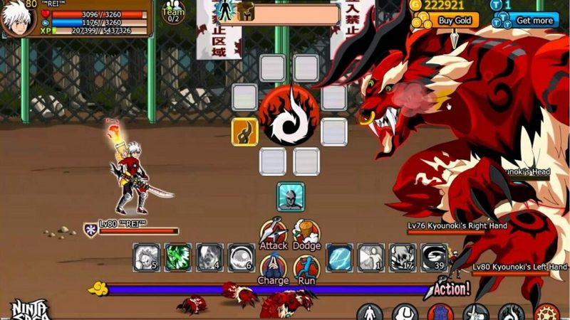 ninja saga tutup