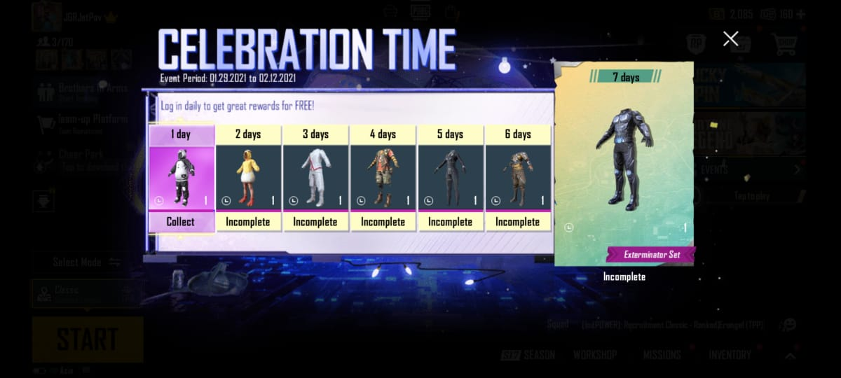 Celebration Time PUBG Mobile