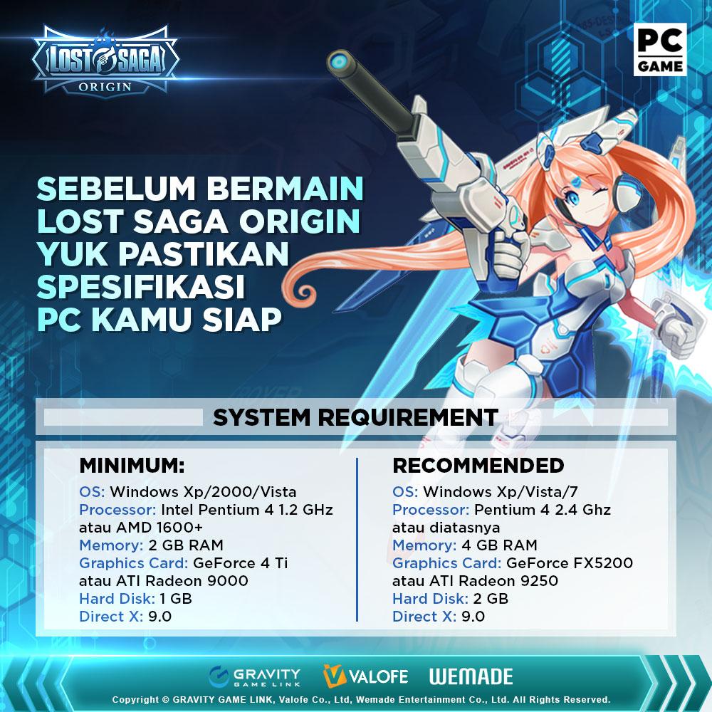 Spesifikasi Lost Saga Origin